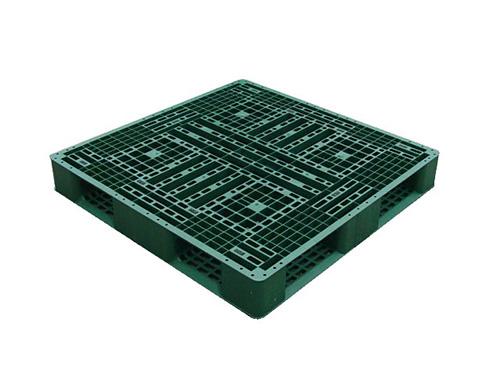 塑膠棧板   LD4 型 單面田字型四方插網面棧板