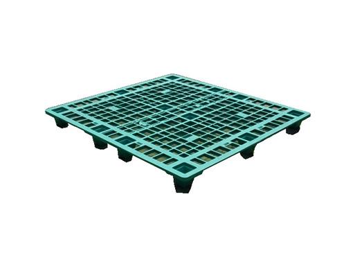 塑膠棧板    K1型 單面四方插網面套疊型棧板