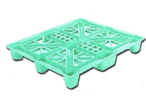 塑膠棧板   K-J型  單面四方插網面套疊型棧板