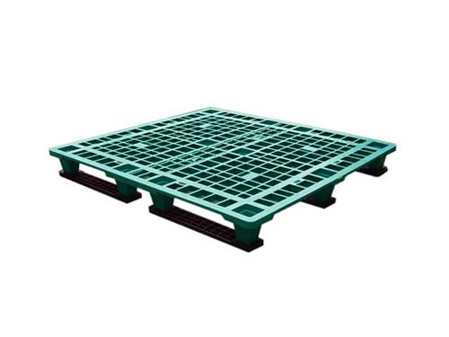 塑膠棧板    K1P型 單面川字四方插網面套疊型棧板