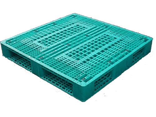 塑膠棧板   HD4 型 單面日字型四方插網面棧板
