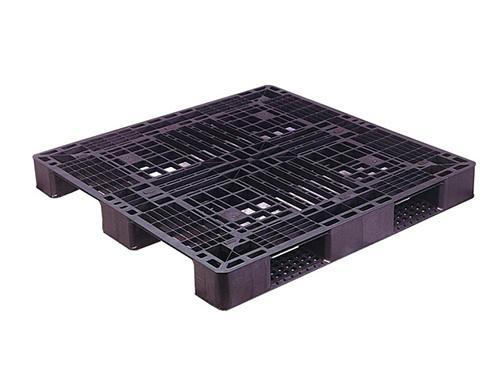 塑膠棧板    SS型  單面川字型四方插網面經濟型