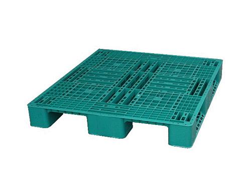 塑膠棧板  LS4型 單面川字型四方插網面