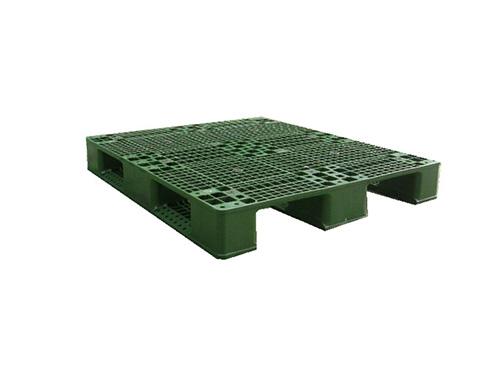 塑膠棧板  AS4型 單面川字型四方插網面