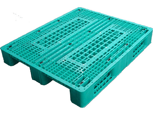 塑膠棧板  HS4型 單面川字型四方插網面棧板