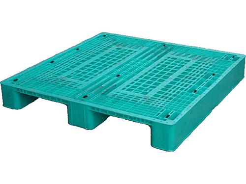 塑膠棧板   HS2型 單面川字型二方插網面棧板