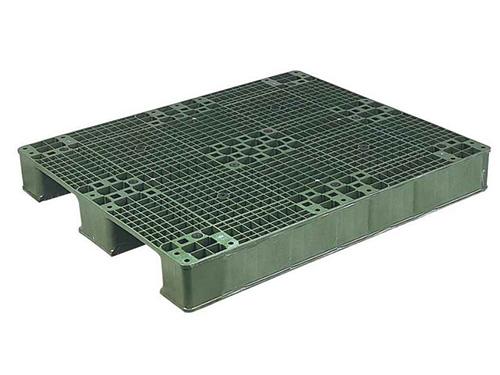 塑膠棧板  AS2型 單面川字型二方插網面棧板